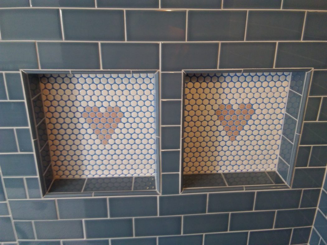Tell-tale hearts - Penhy Tile/Subway Niche - Mucciolo Specialty Tile