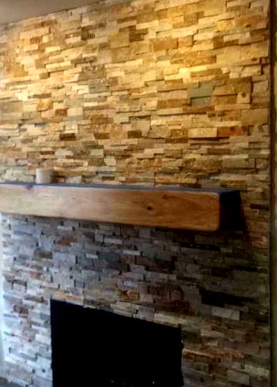 Quartzite architectural stacked stone ledger