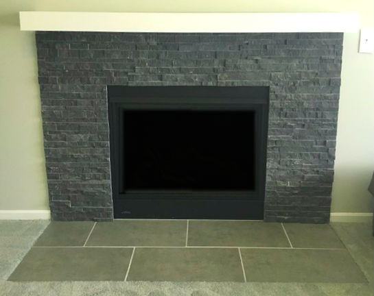Charcoal Hue Travertine architectural stacked stone ledger
