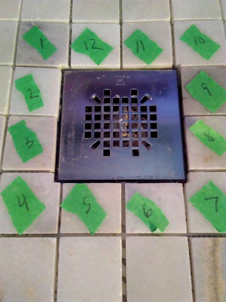 Tile by Numbers - 2x2 Carrara Marble Mosaic