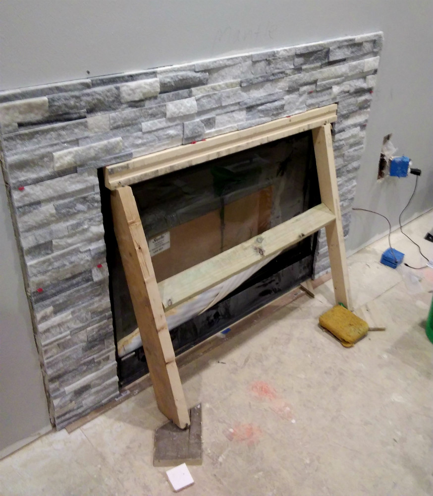 Nordic Viking Ledger Stone Fireplace Mequon
